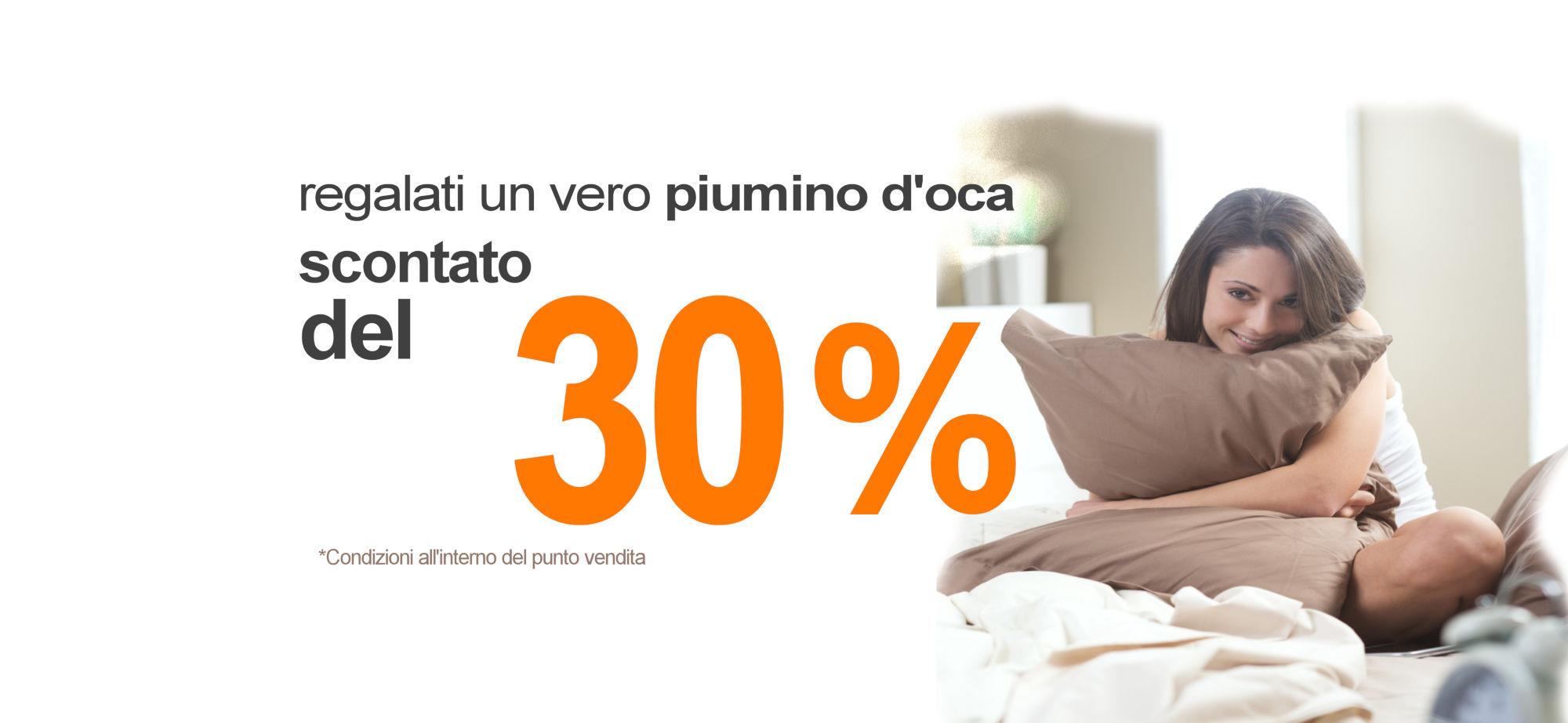 Promo piumino 30%